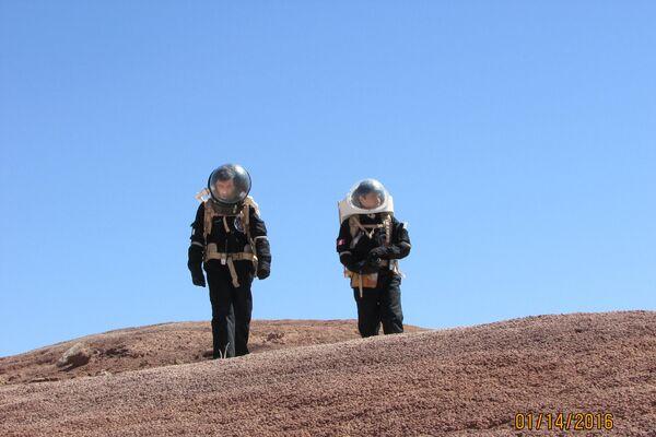 Marcos Bruno ya participó de tres misiones análogas de simulación de la NASA y The Mars Society, que busca colonizar el planeta rojo - Sputnik Mundo
