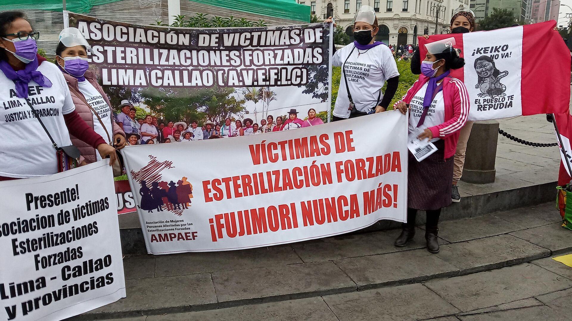 Víctimas de las esterilizaciones forzadas bajo el gobierno de Fujimori - Sputnik Mundo, 1920, 03.06.2021