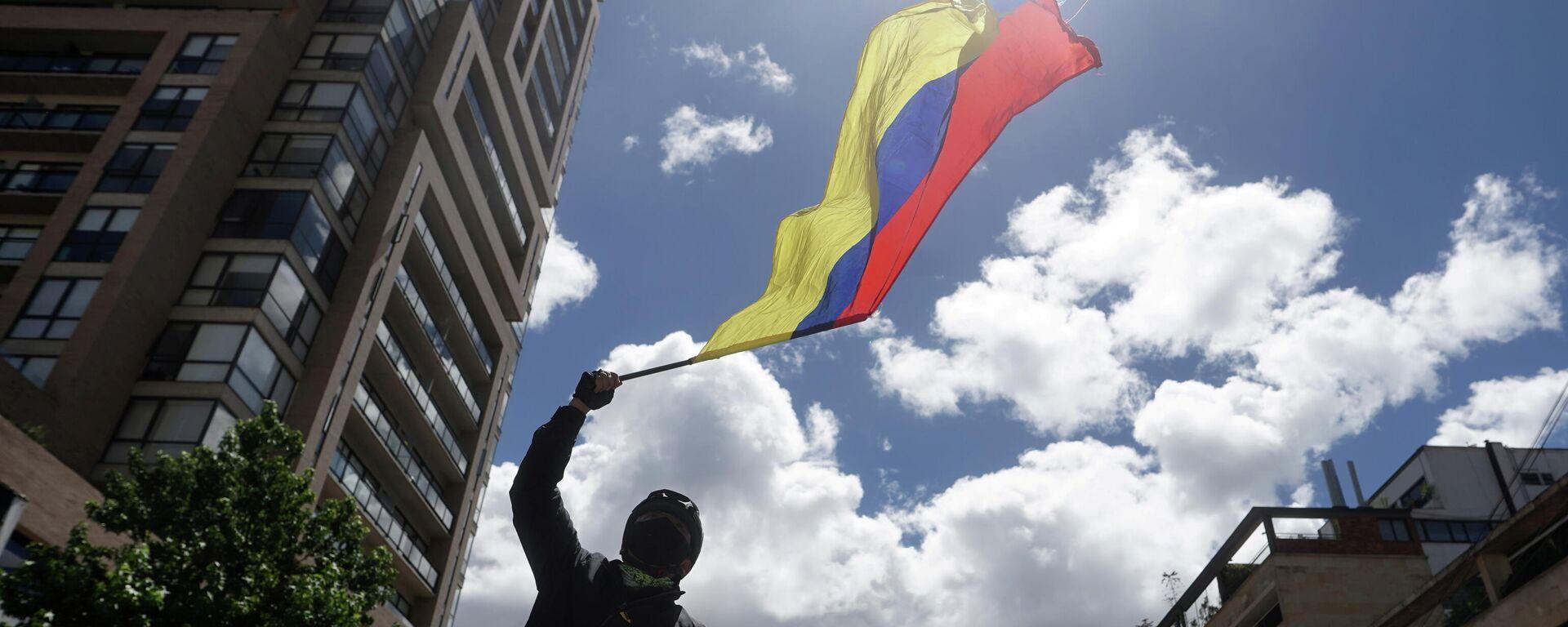Manifestación en Bogotá, Colombia - Sputnik Mundo, 1920, 03.06.2021
