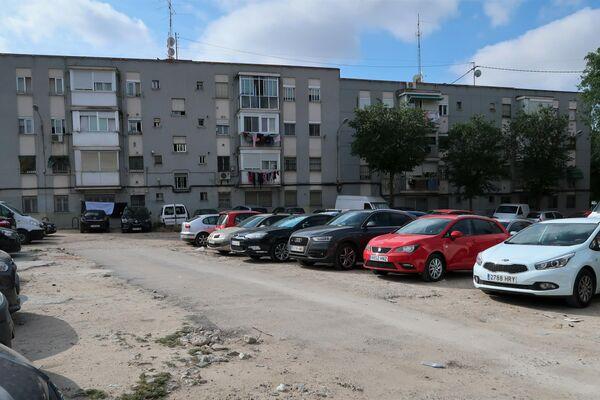 Descampado al lado del piso con habitanciones compartidas de Vallecas, en Madrid - Sputnik Mundo