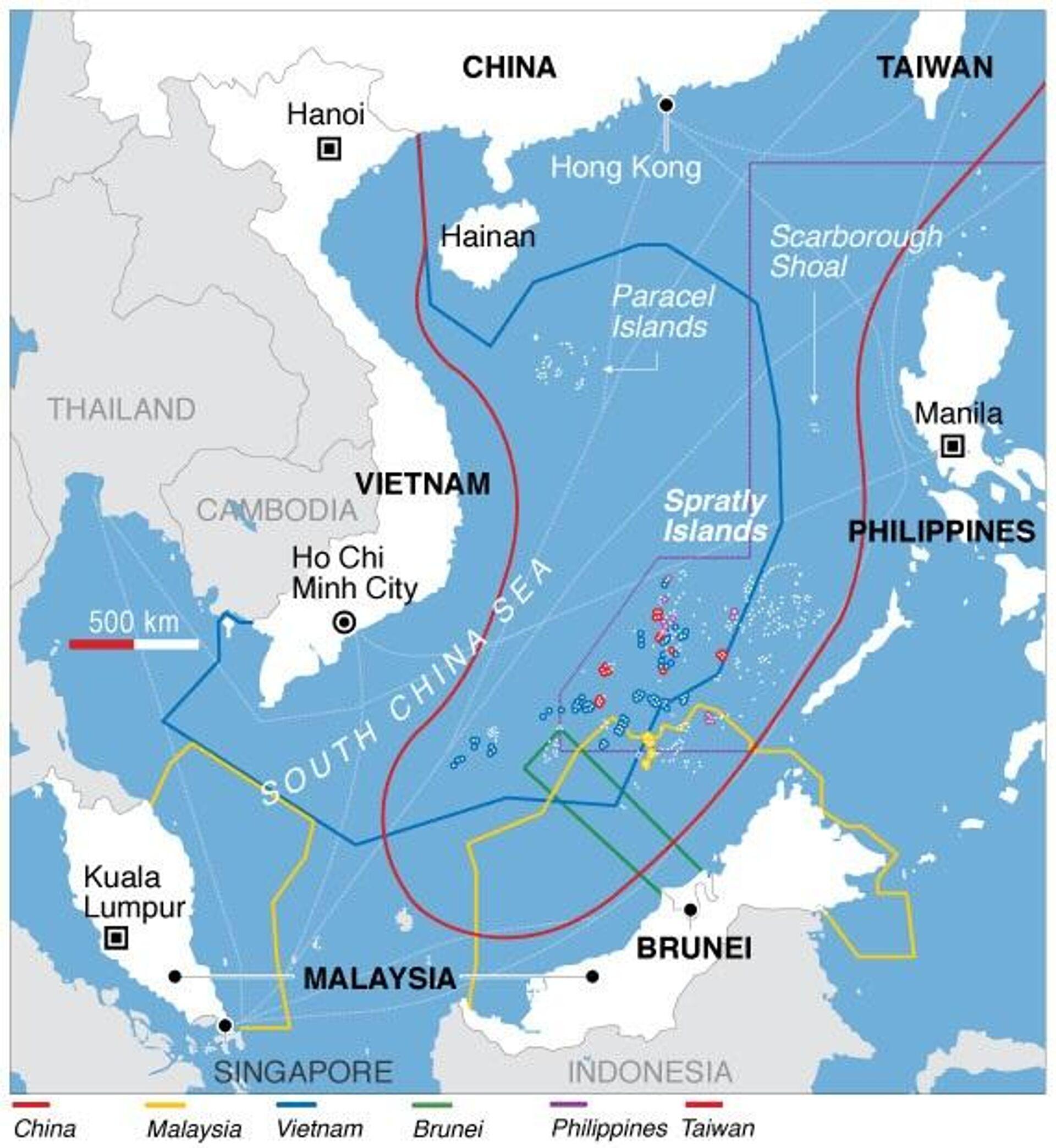 Reclamaciones territoriales en el mar de la China Meridional - Sputnik Mundo, 1920, 03.06.2021