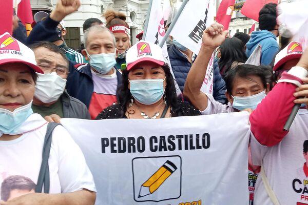 Simpatizantes de Pedro Castillo - Sputnik Mundo