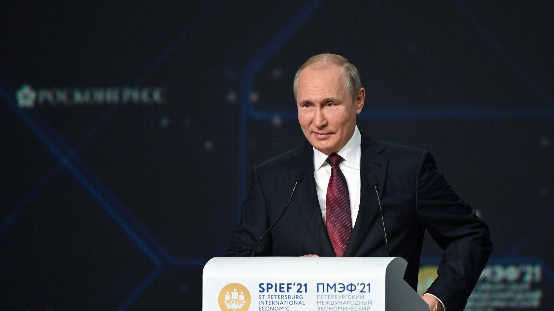 El presidente de Rusia, Vladímir Putin - Sputnik Mundo, 1920, 04.06.2021