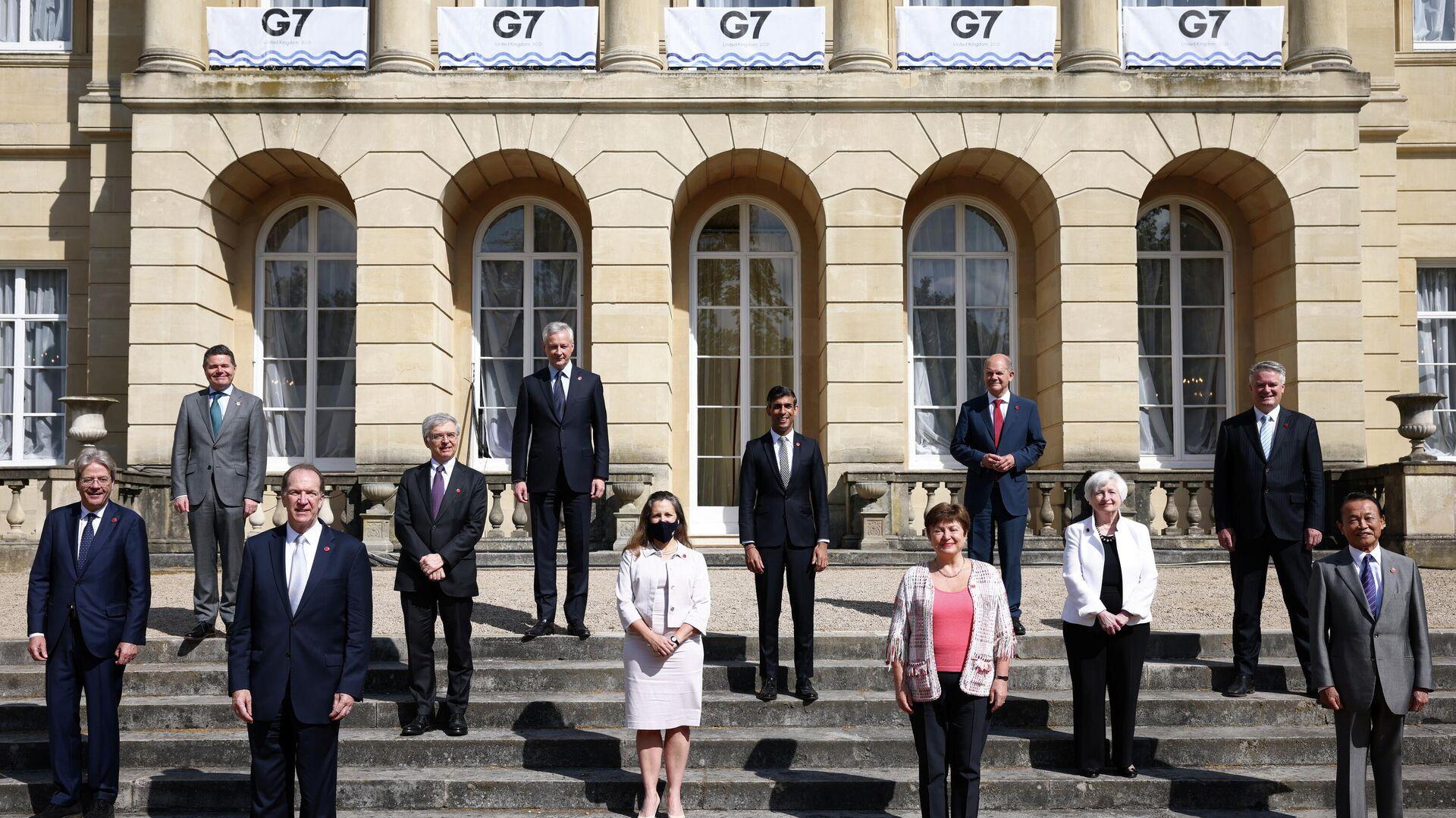 La reunión de los ministros de Finanzas del G7 en Londres, el 5 de junio de 2021 - Sputnik Mundo, 1920, 05.06.2021