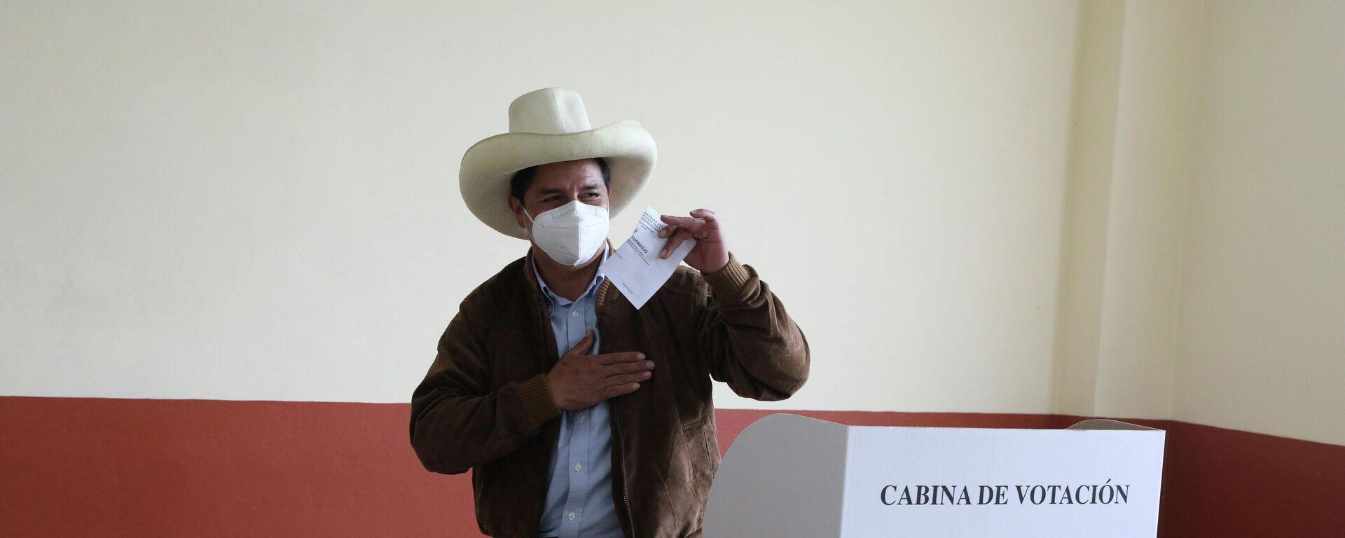 Pedro Castillo, candidato presidencial peruano - Sputnik Mundo, 1920, 06.06.2021