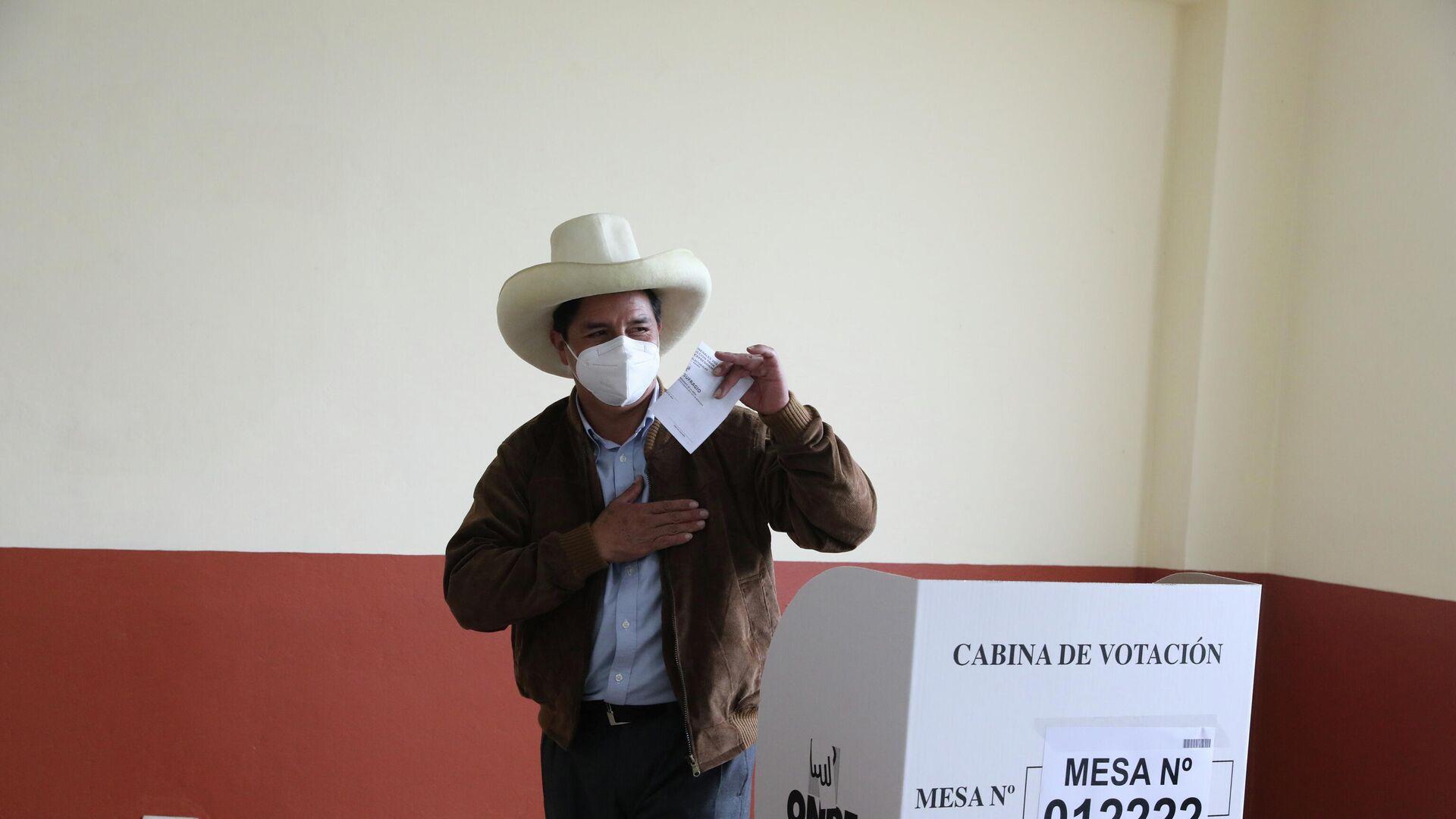 Pedro Castillo, candidato presidencial peruano - Sputnik Mundo, 1920, 07.06.2021