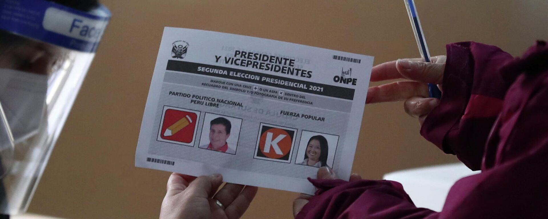 Elecciones en Perú - Sputnik Mundo, 1920, 06.06.2021