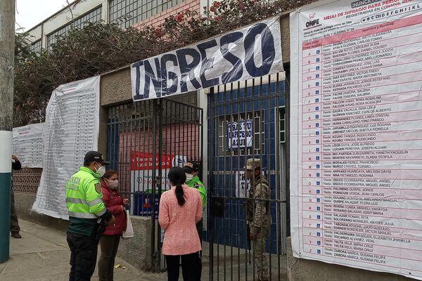 Centro de votación en el Distrito Villa María - Sputnik Mundo