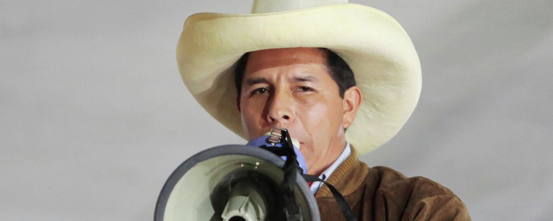 Pedro Castillo, candidato a la presidencia de Perú - Sputnik Mundo, 1920, 08.06.2021