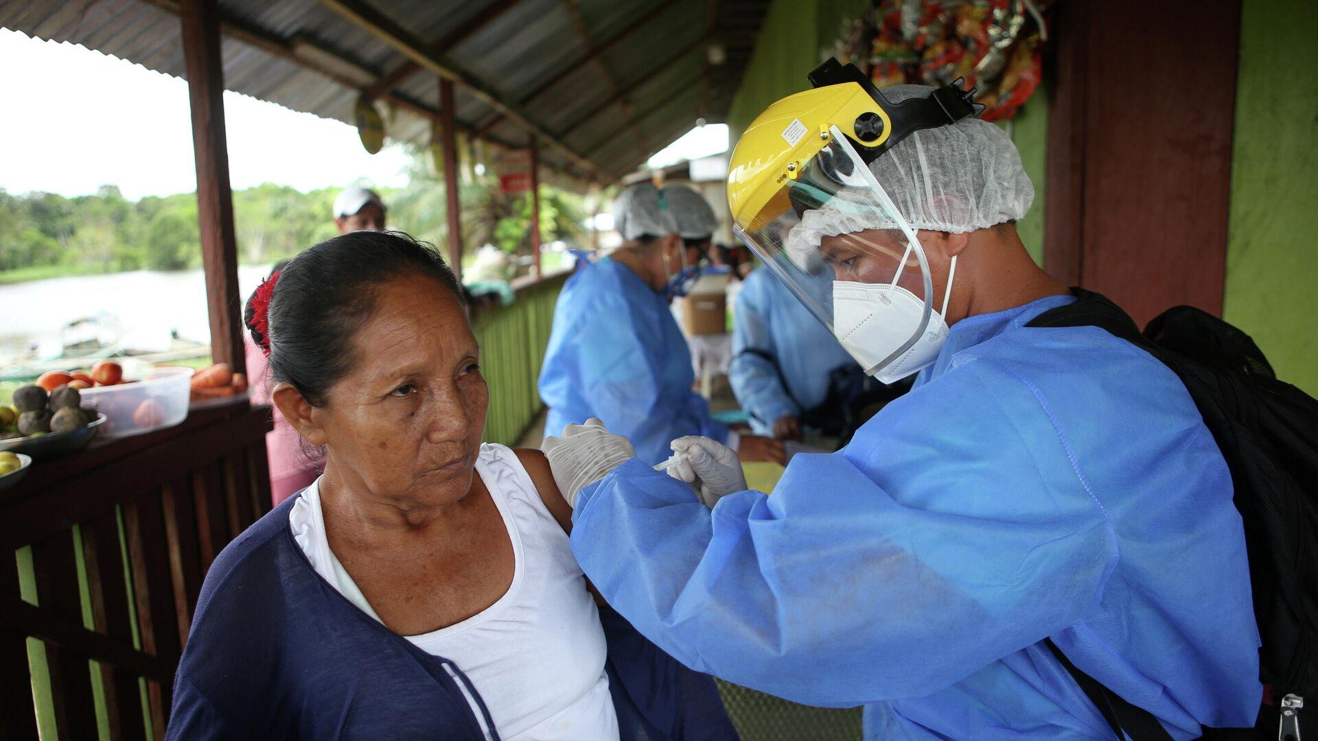 Vacunación contra COVID-19 en Iquitos, Perú - Sputnik Mundo, 1920, 08.06.2021
