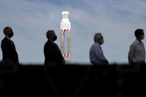 El presidente de Chile, Sebastián Piñera, durante la inauguración de la primera planta de energía termosolar de Latinoamérica - Sputnik Mundo
