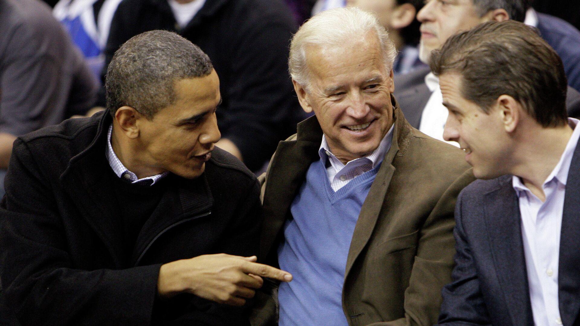 Barack Obama junto a Joe y Hunter Biden en 2010 - Sputnik Mundo, 1920, 09.06.2021