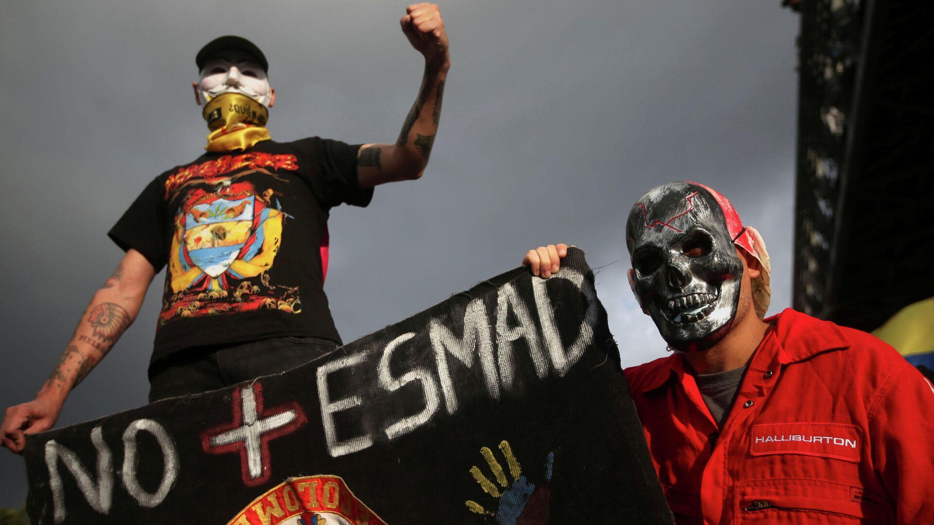 Protesta antigubernamental en Bogotá (Colombia), el 2 de junio del 2021 - Sputnik Mundo, 1920, 09.06.2021