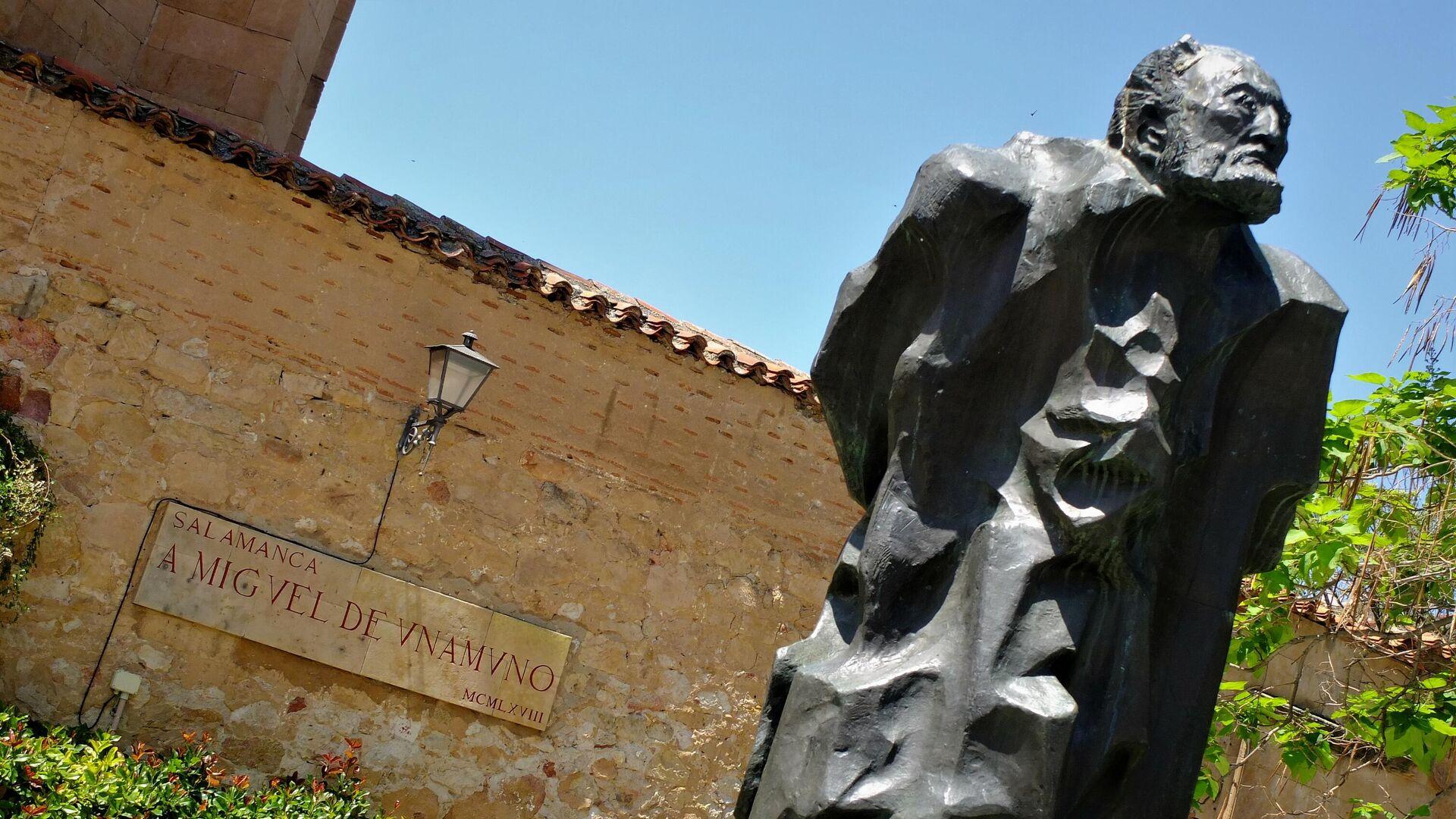 Estatua de Miguel de Unamuno en Salamanca - Sputnik Mundo, 1920, 12.06.2021