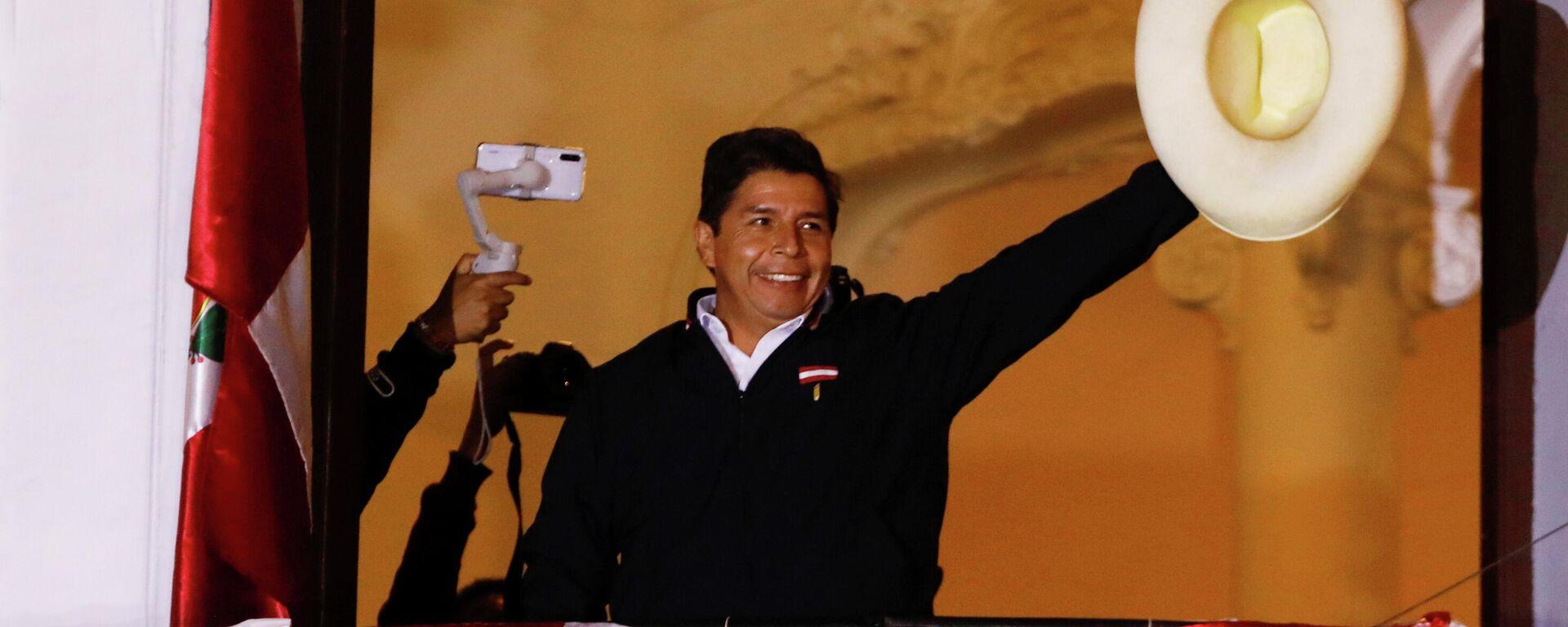 Pedro Castillo, candidato a la presidencia de Perú - Sputnik Mundo, 1920, 15.06.2021
