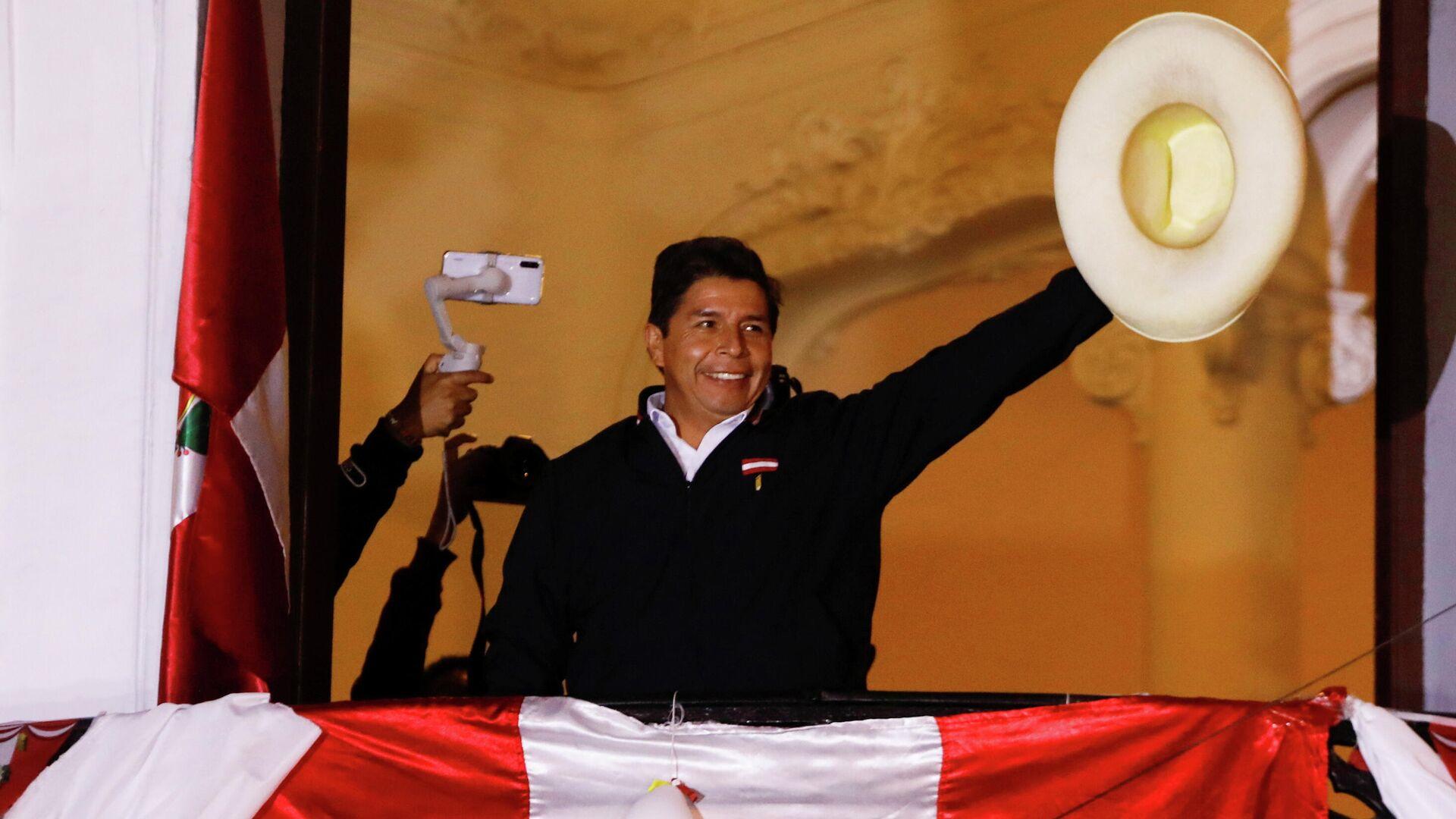 Pedro Castillo, candidato a la presidencia de Perú - Sputnik Mundo, 1920, 10.06.2021