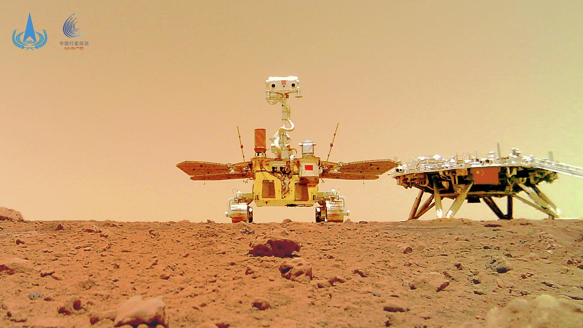 Una foto de la superficie de Marte hecha por el rover Zhurong - Sputnik Mundo, 1920, 11.06.2021