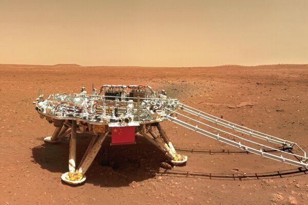 Una foto de la superficie de Marte hecha por el rover Zhurong - Sputnik Mundo
