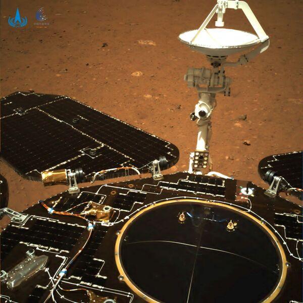 Una imagen de Marte tomada por el rover Zhurong en el marco de la misión Tianwen-1. - Sputnik Mundo
