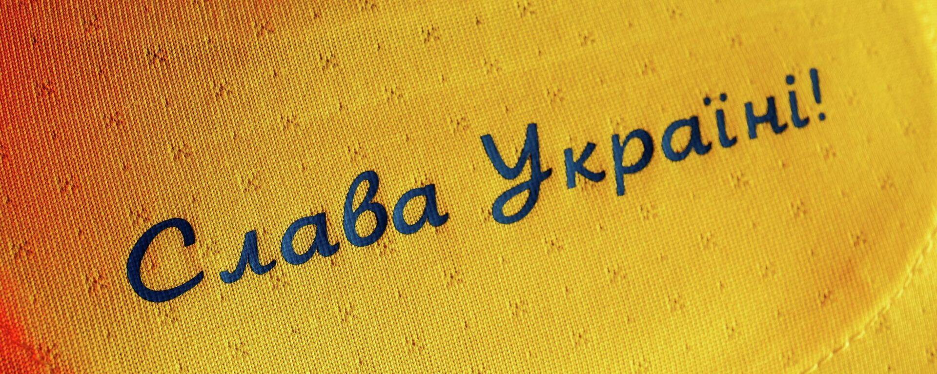 Camiseta de la selección ucraniana de fútbol con el lema ¡Gloria a Ucrania! - Sputnik Mundo, 1920, 11.06.2021
