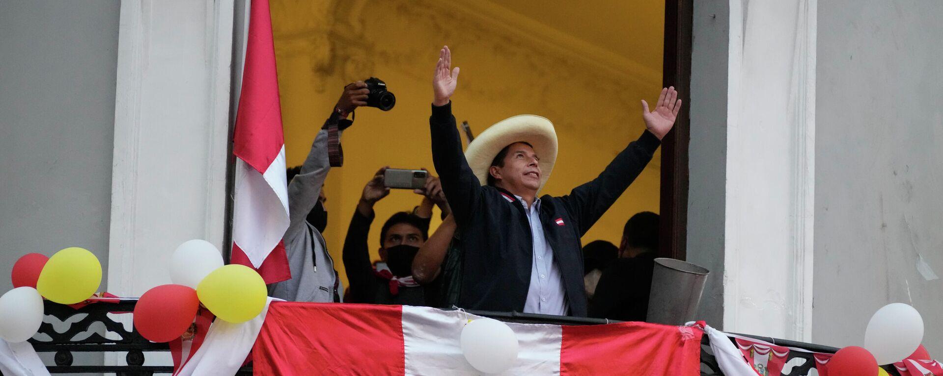 Pedro Castillo, candidato a la presidencia de Perú - Sputnik Mundo, 1920, 16.06.2021