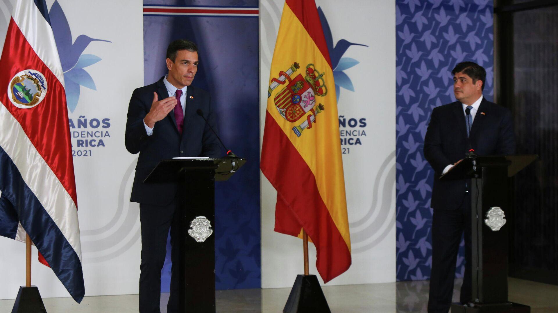 Jefe del Gobierno de España, Pedro Sánchez, y presidente de Costa Rica, Carlos Alvarado - Sputnik Mundo, 1920, 11.06.2021