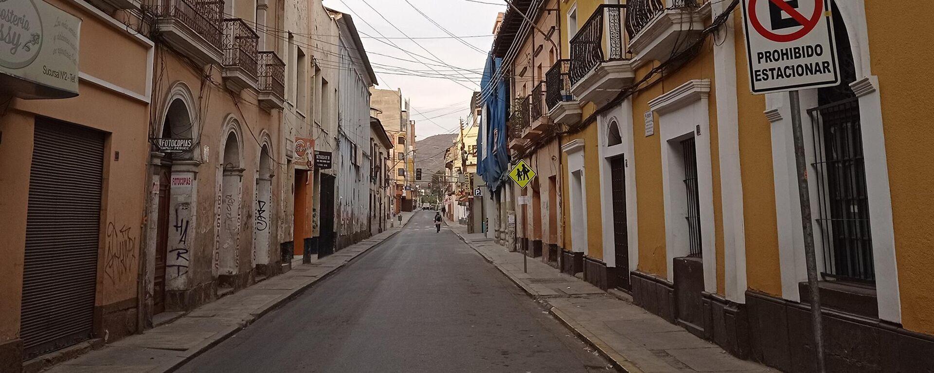 Las calles vacías de Cochabamba - Sputnik Mundo, 1920, 12.06.2021