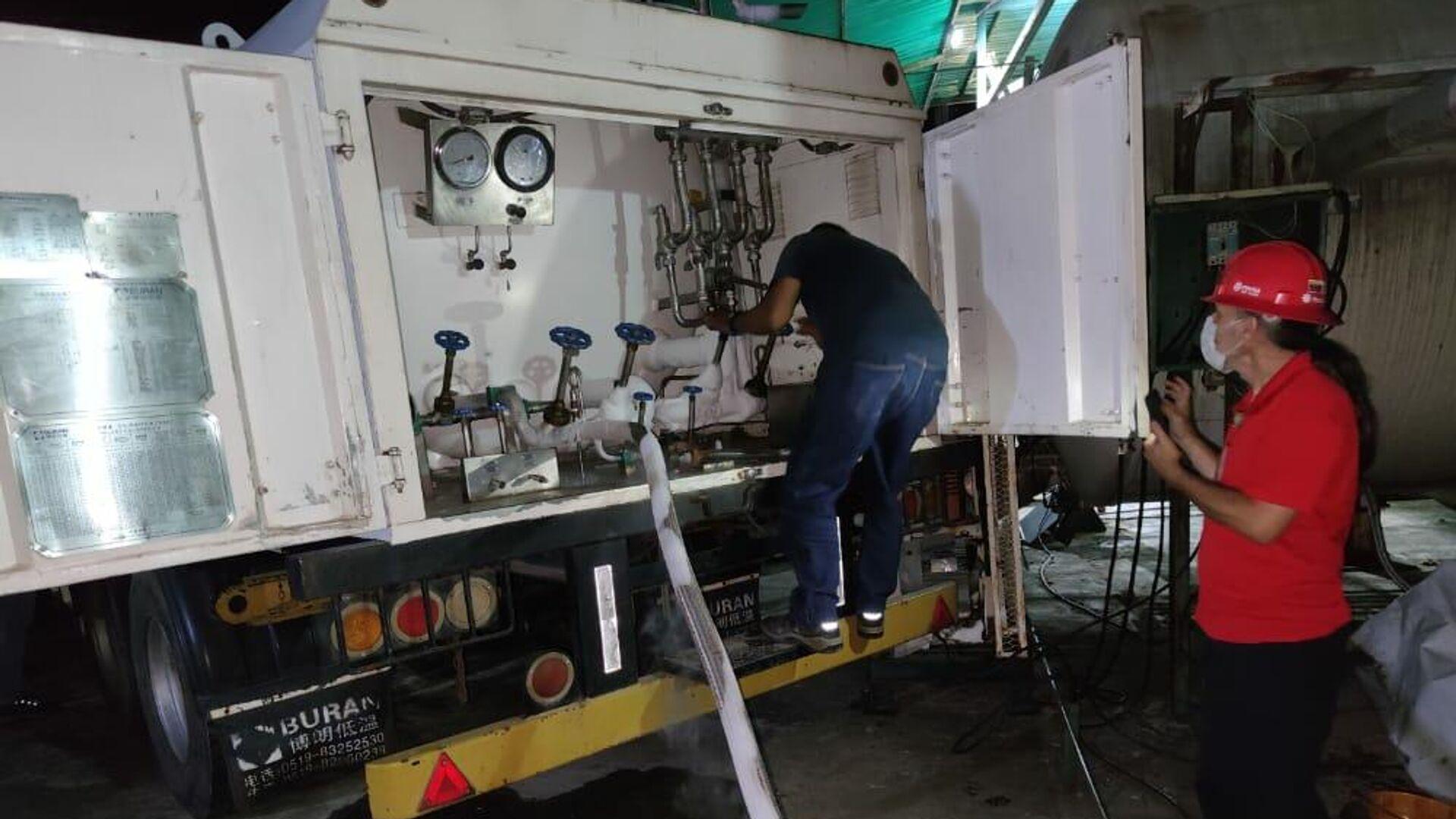 Despacho de cilindros desde la planta Oxígeno del Centro recientemente reactivada para CDIs de Distrito Capital y Miranda - Sputnik Mundo, 1920, 12.06.2021