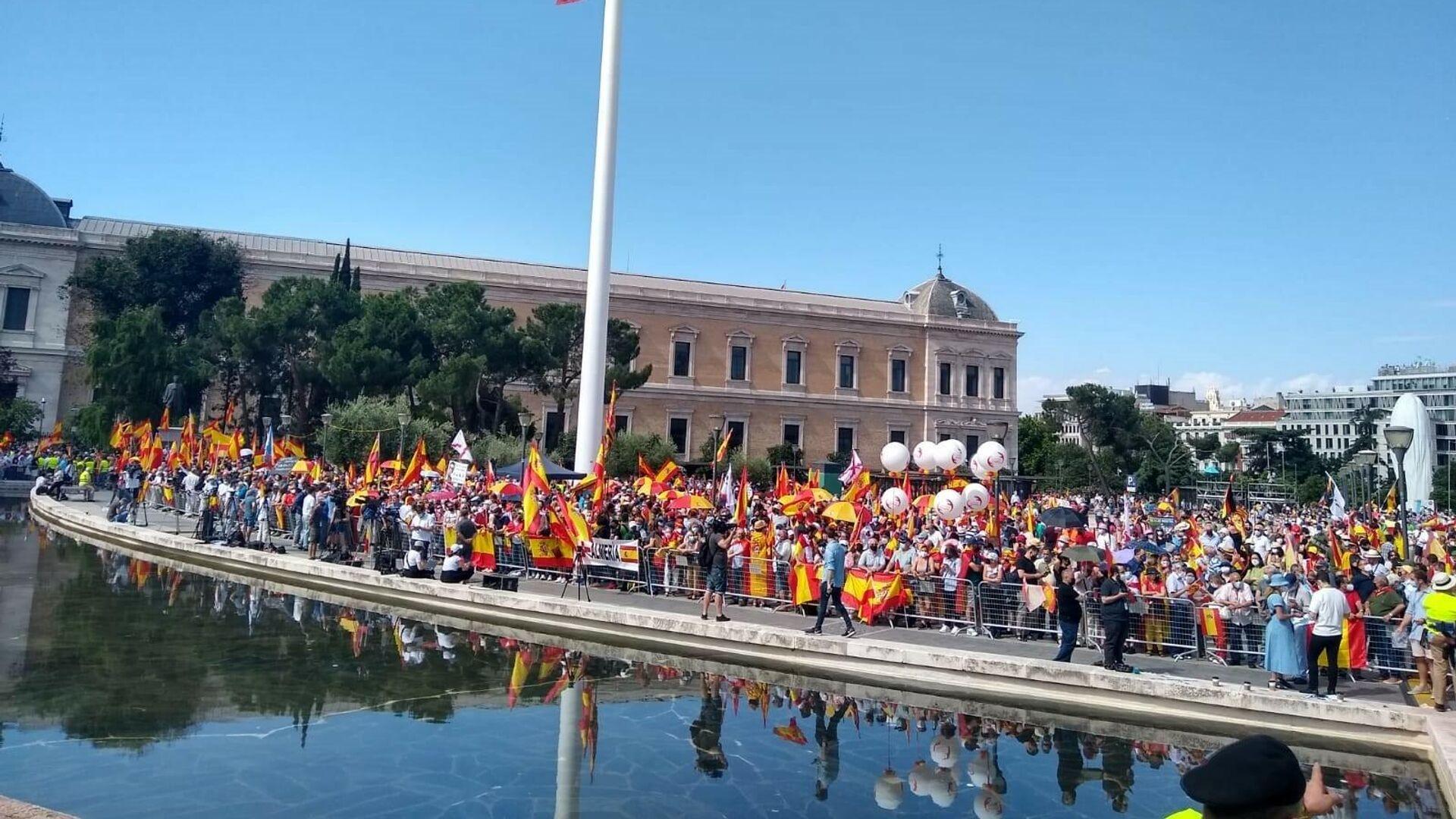La protesta contra los indultos a los líderes del próces - Sputnik Mundo, 1920, 13.06.2021