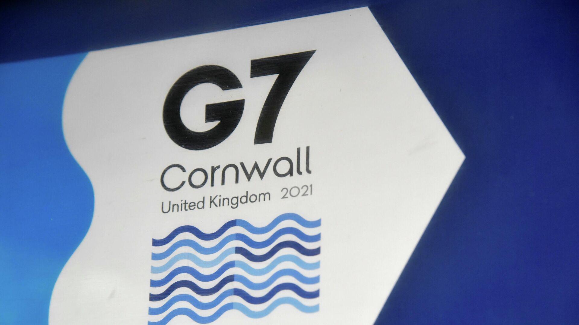 Logo de la cumbre del G7 en Cornualles, el Reino Unido - Sputnik Mundo, 1920, 13.06.2021