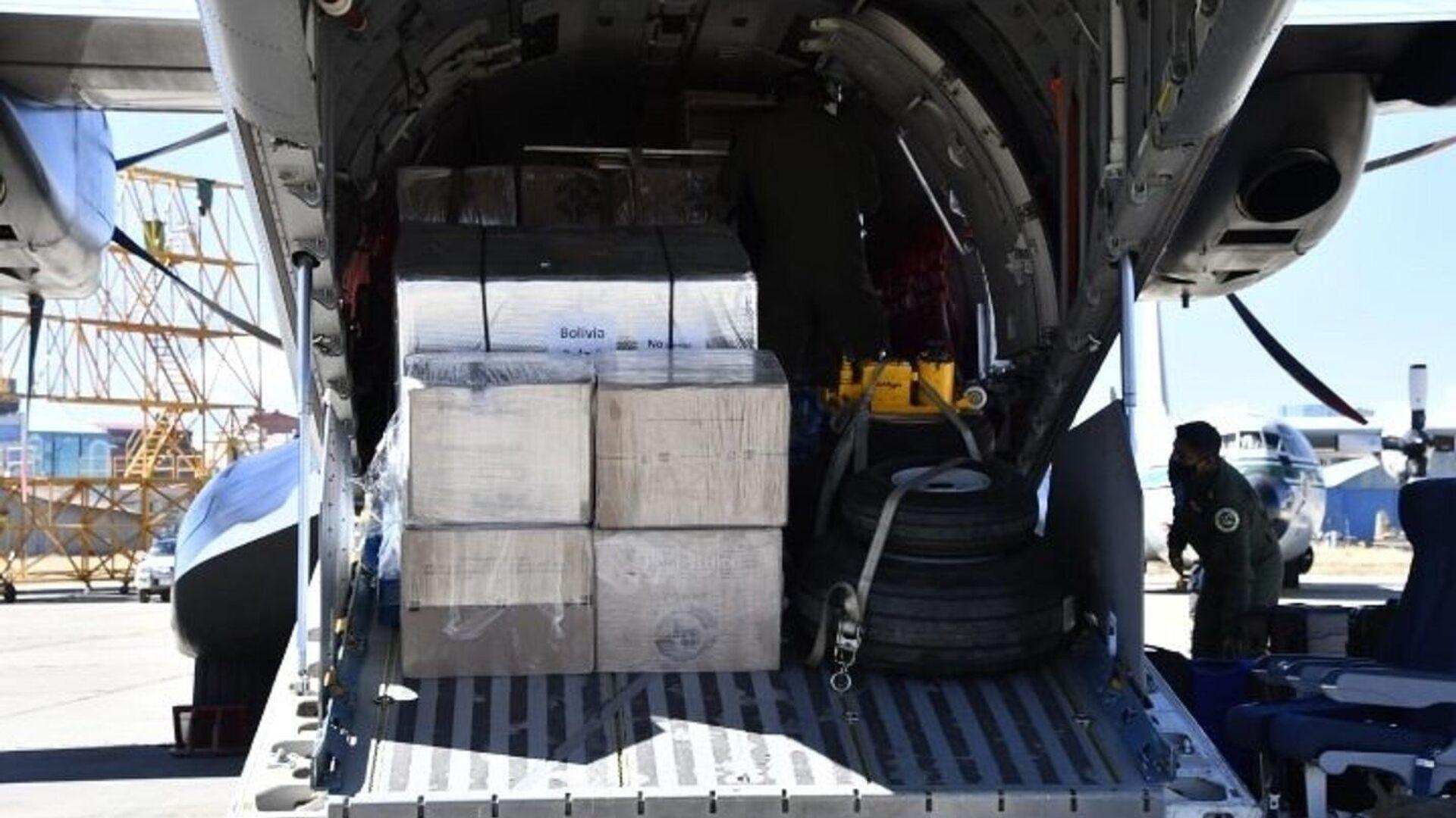 Llegada a Bolivia de 150.000 dosis de la vacuna anticovid AstraZenec donadas por México - Sputnik Mundo, 1920, 14.06.2021