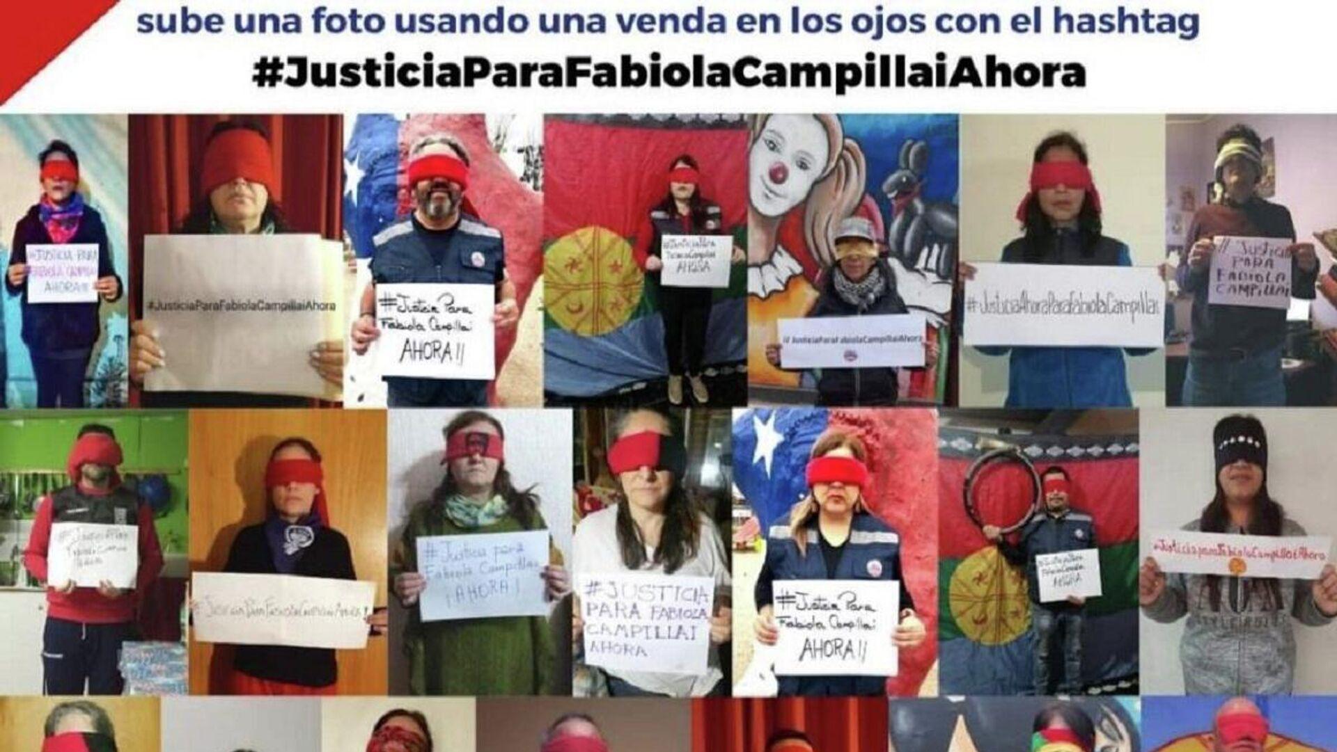 Campaña por justicia para Fabiola Campillai en redes sociales - Sputnik Mundo, 1920, 14.06.2021