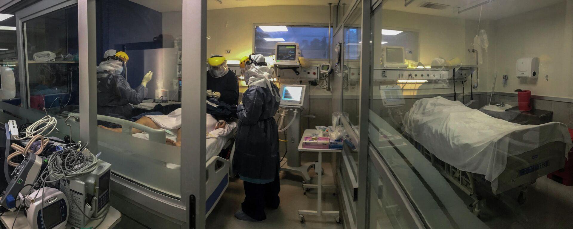 Hospital con pacientes con COVID-19 en Montevideo, Uruguay - Sputnik Mundo, 1920, 15.06.2021