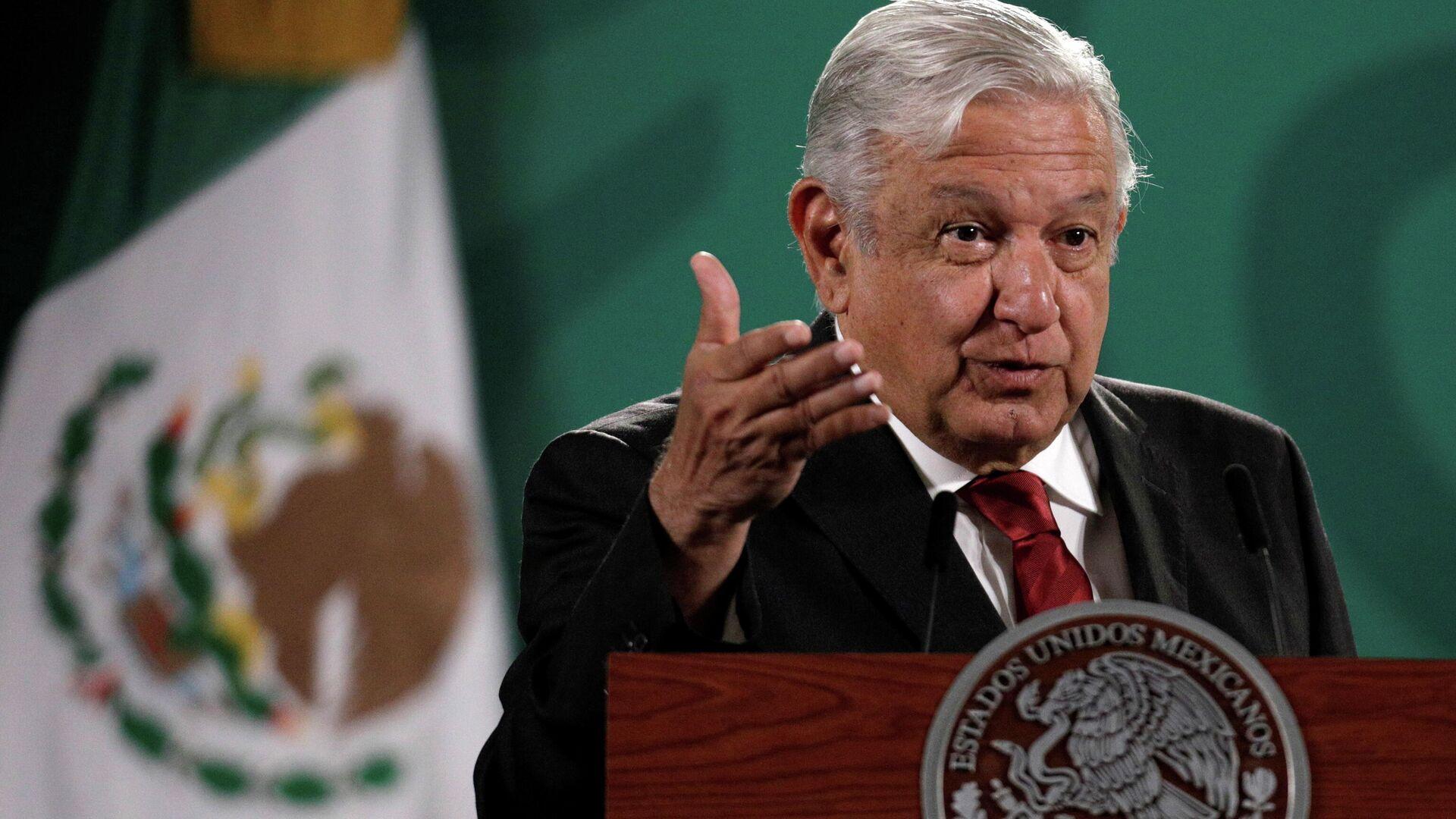 El presidente de México, Andrés Manuel López Obrador - Sputnik Mundo, 1920, 15.06.2021