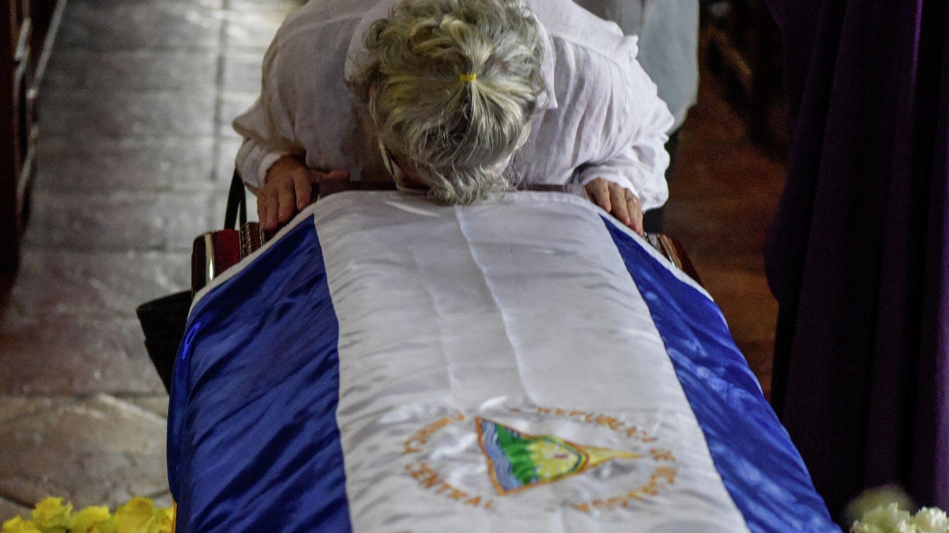 Velatorio del expresidente de Nicaragua Enrique Bolaños - Sputnik Mundo, 1920, 15.06.2021