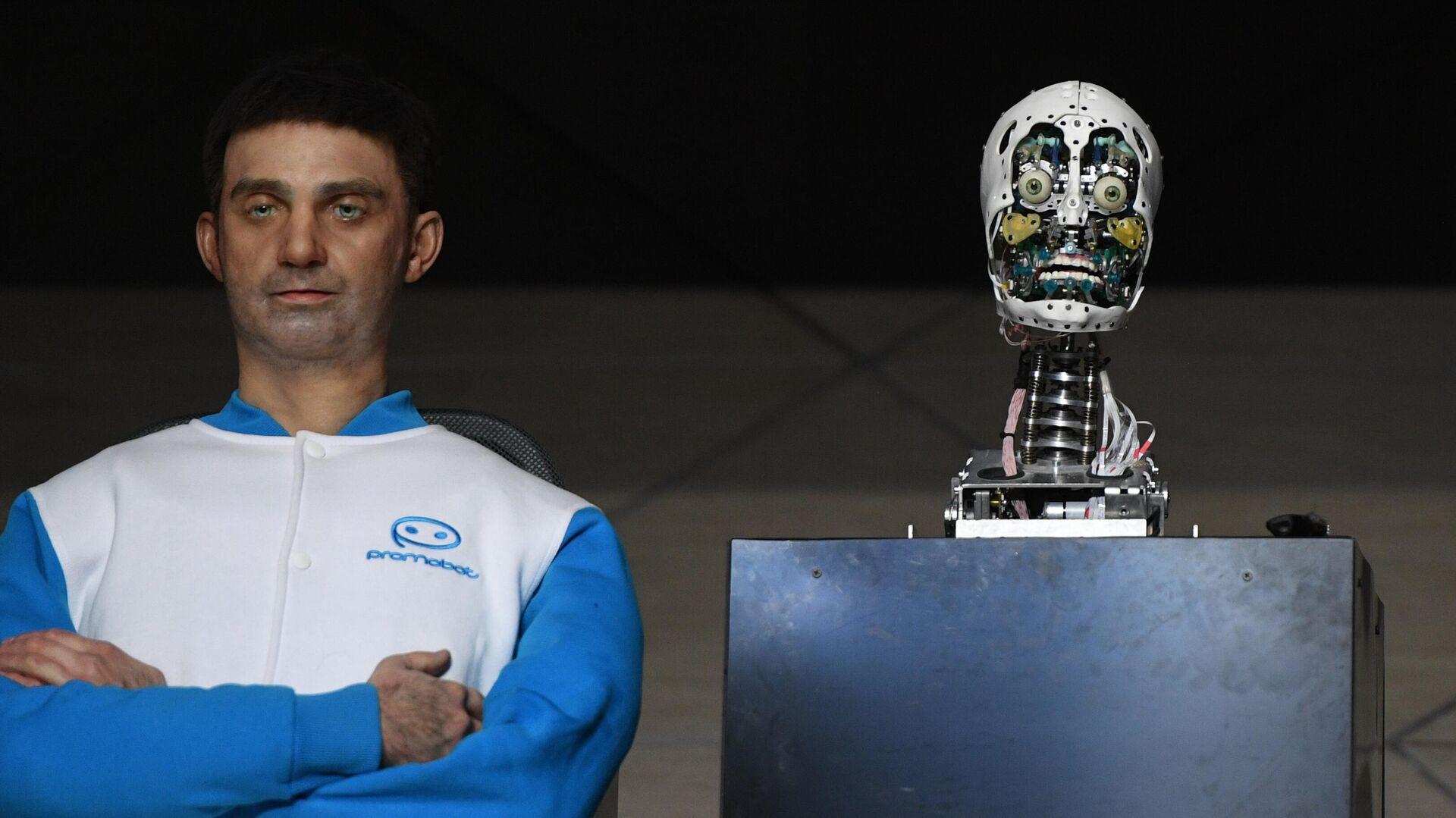 Un robot de la empresa rusa Promobot - Sputnik Mundo, 1920, 16.06.2021
