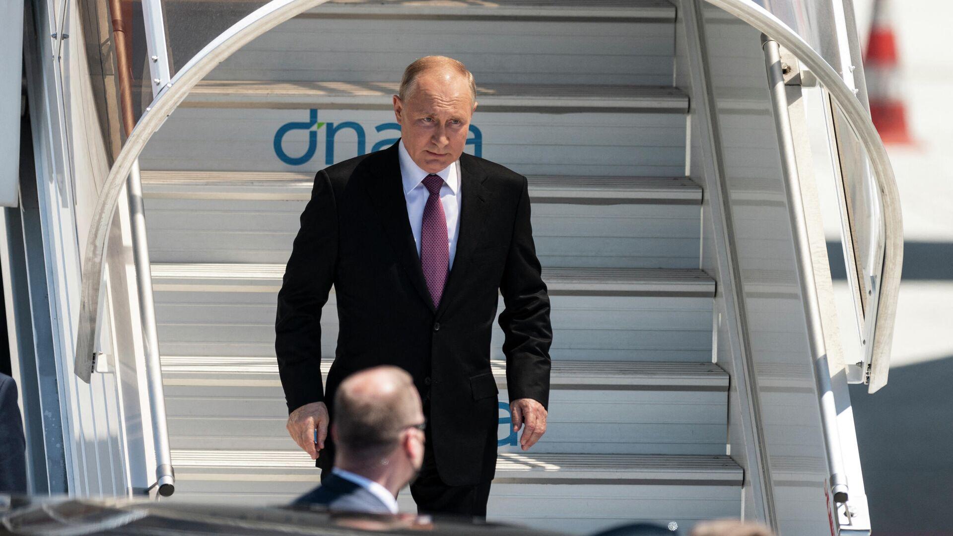 El presidente de Rusia, Vladímir Putin, llega a Ginebra  - Sputnik Mundo, 1920, 16.06.2021