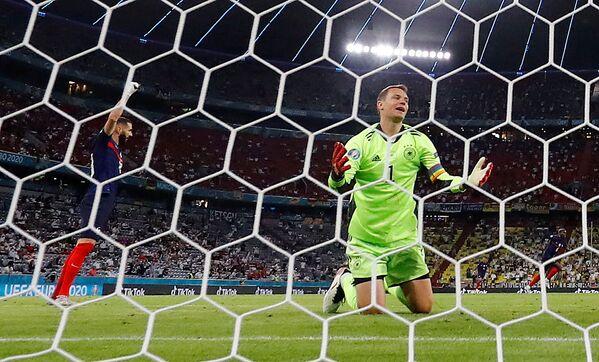 El portero alemán, Manuel Neuer, durante el partido de la fase de grupos de la Eurocopa 2020 entre Alemania y Francia en el Allianz Arena de Múnich. - Sputnik Mundo