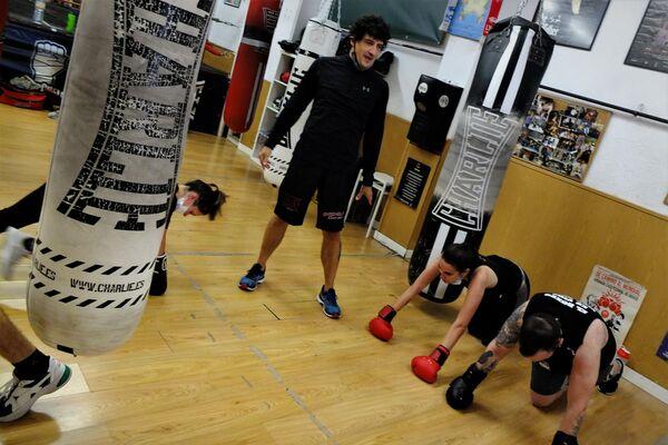 Jero García en un entrenamiento de su gimnasio de Madrid - Sputnik Mundo