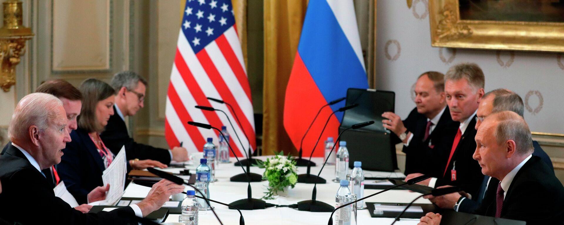 La cumbre entre Joe Biden y Vladímir Putin en Ginebra - Sputnik Mundo, 1920, 17.06.2021