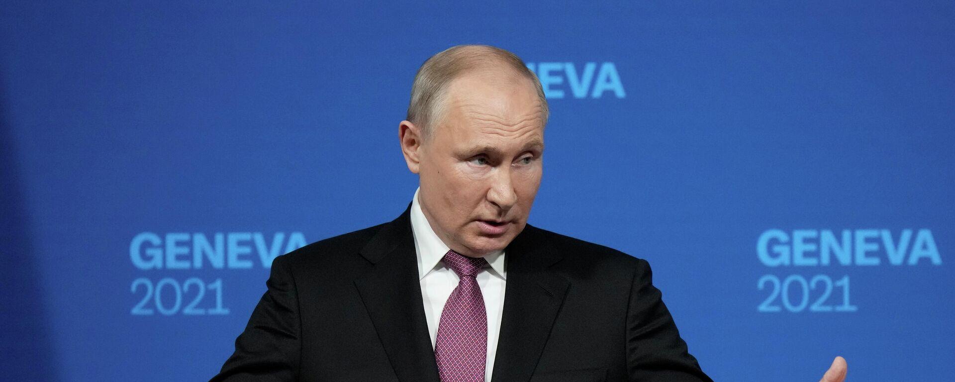 El presidente ruso, Vladímir Putin - Sputnik Mundo, 1920, 16.06.2021