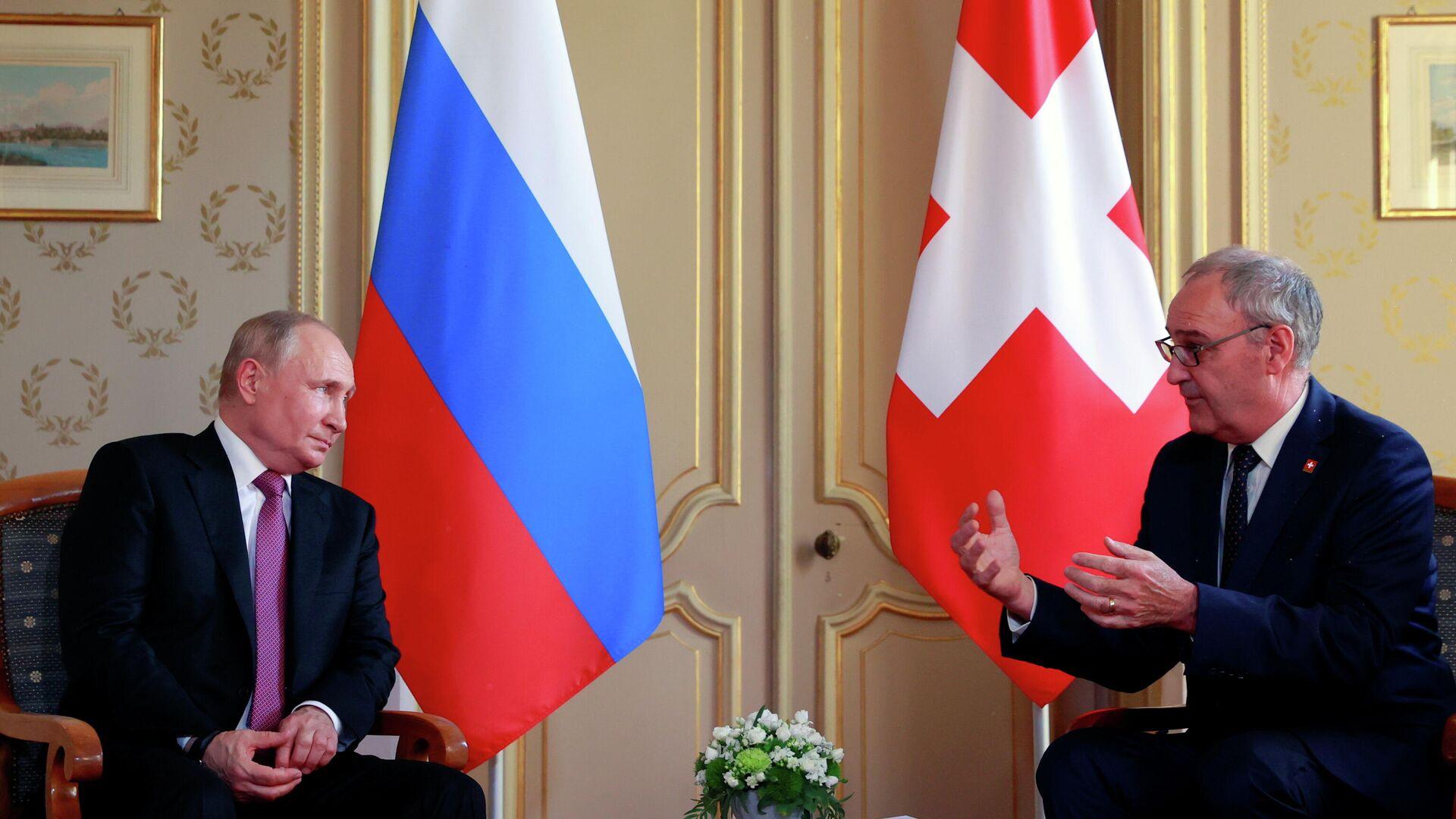 Reunión del presidente de Rusia, Vladímir Putin, y el presidente de Suiza, Guy Parmelin - Sputnik Mundo, 1920, 16.06.2021