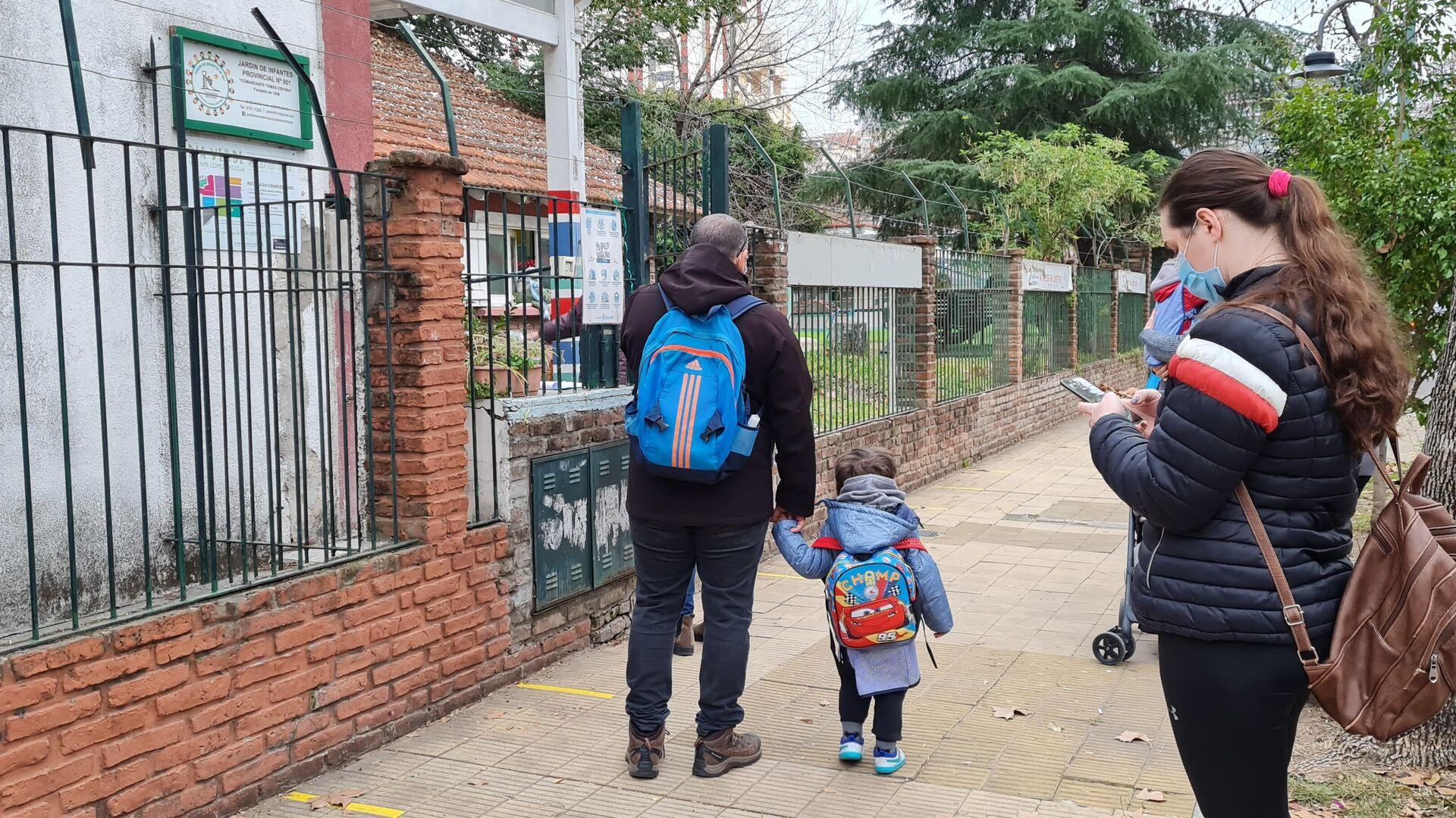 3,5 millones de chicos de la zona más poblada de Argentina volvieron a las aulas, con estricto protocolo - Sputnik Mundo, 1920, 16.06.2021