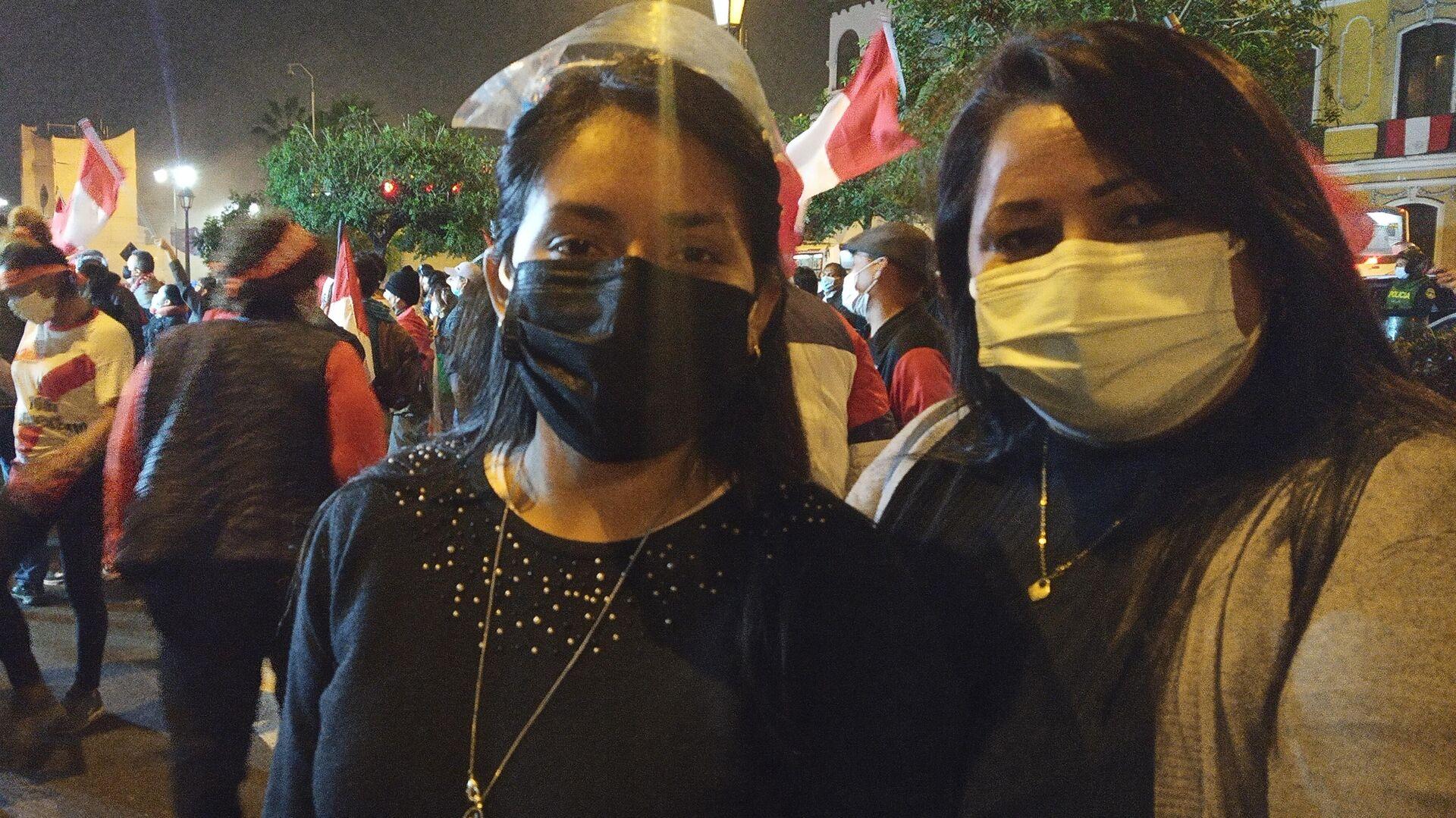Kathy Justo, a la derecha, en apoyo a Keiko Fujimori - Sputnik Mundo, 1920, 17.06.2021