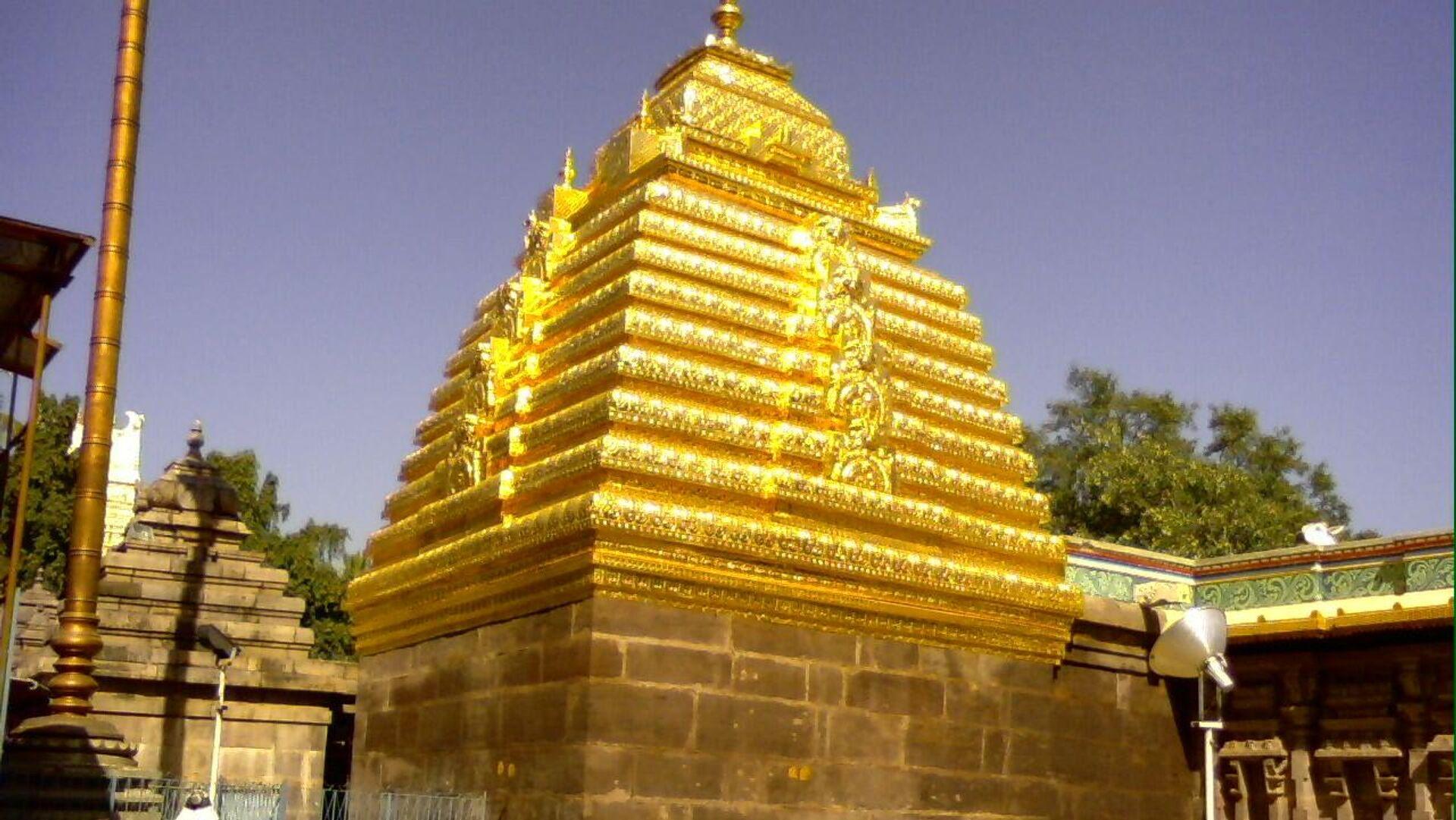 El templo Mallikarjun, Srisailam, La India - Sputnik Mundo, 1920, 17.06.2021