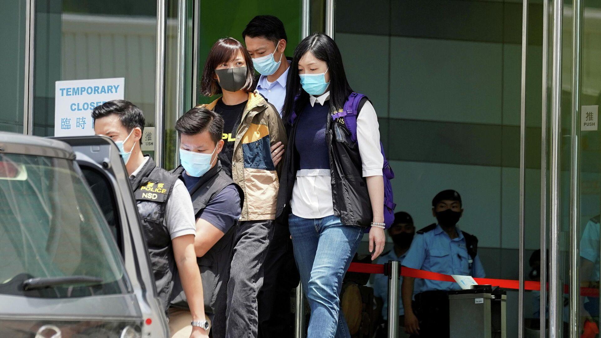 Arresto de 4 ejecutivos del periódico Apple Daily en Hong Kong - Sputnik Mundo, 1920, 17.06.2021