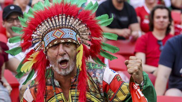 Португальский болельщик на матче группы F чемпионата Евро-2020 между Венгрией и Португалией - Sputnik Mundo