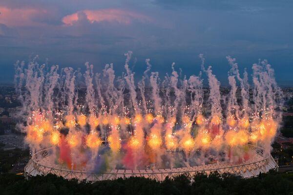 Así transcurrió la ceremonia de apertura de la Eurocopa 2020 en el Estadio Olímpico de Roma, Italia. - Sputnik Mundo
