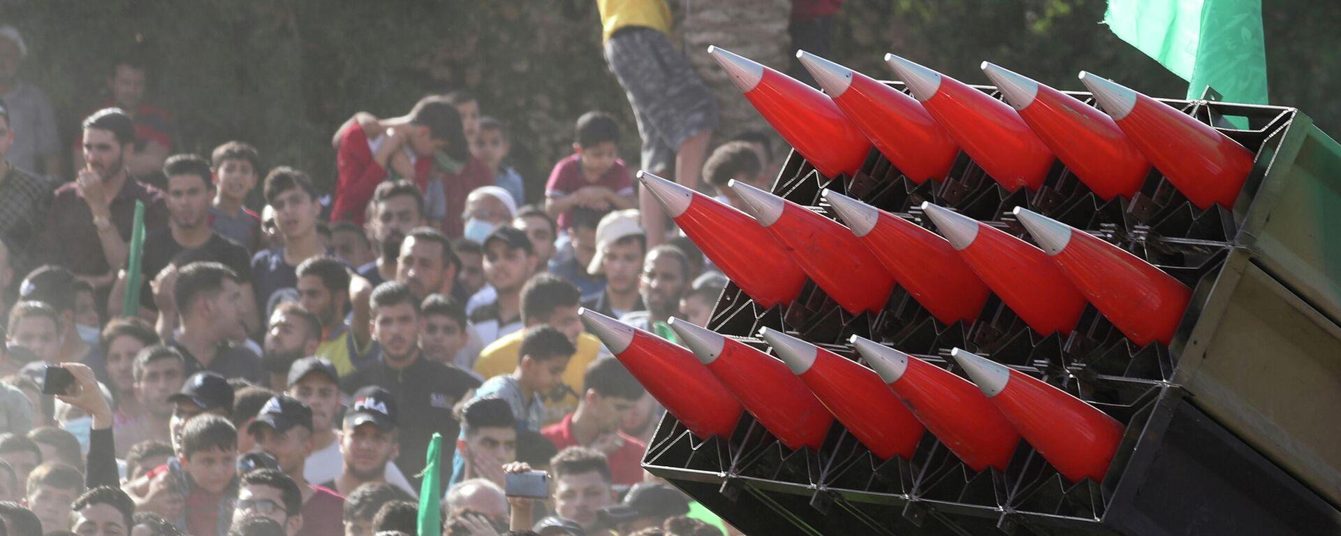Una marcha anti-israelí en Gaza - Sputnik Mundo, 1920, 18.06.2021