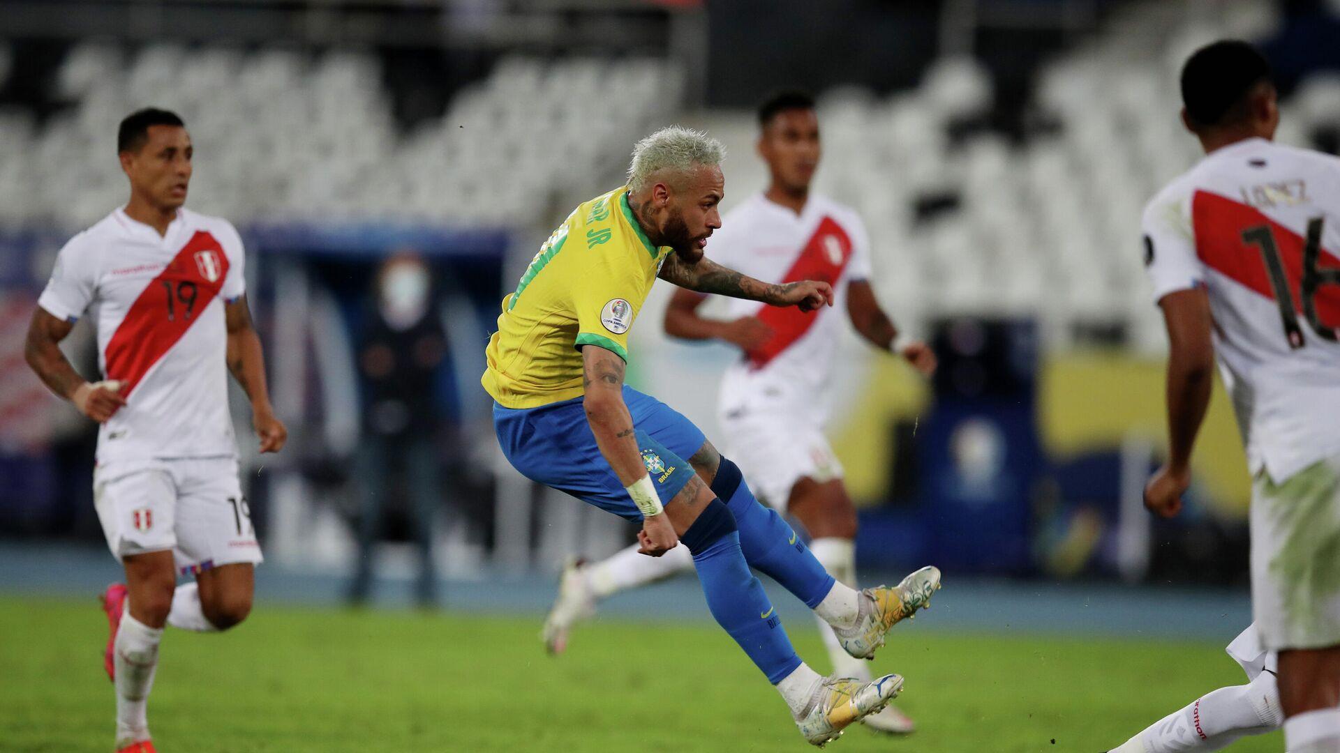 Neymar en el partido de las selecciones de Brasil contra Perú - Sputnik Mundo, 1920, 18.06.2021